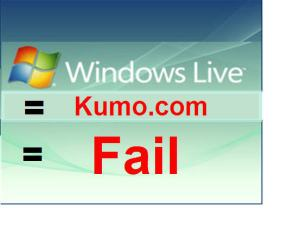 Live Search to Kumo.com = FAIL