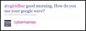 Tweet of Confusion 1
